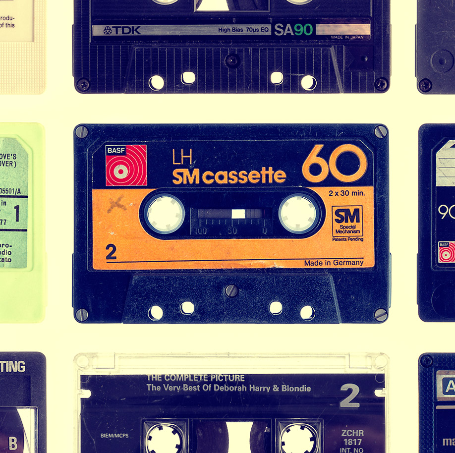 Keuken achterwand Vintage Cassette
