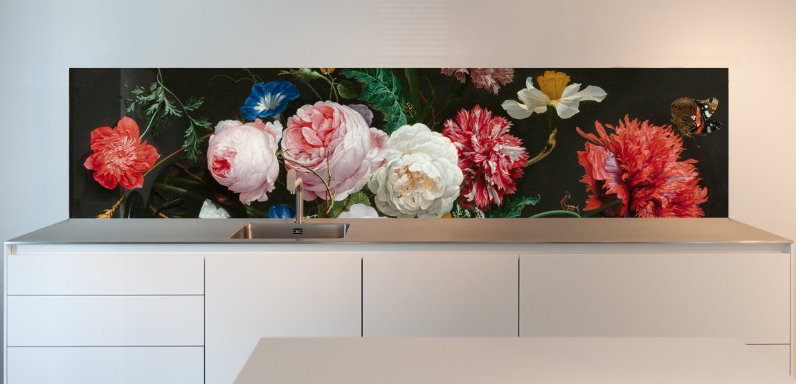 Floral Stillive kitchen backsplash ideas