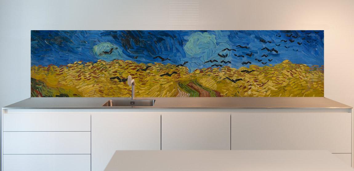 Keuken Foto Achterwand Bestellen Collectie Van Gogh Sowhat Design