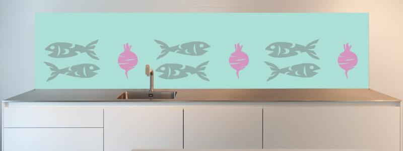 keuken spatwand Haring|bieten
