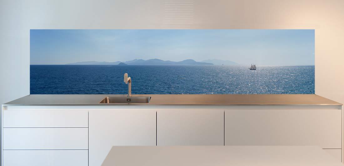 keuken spatwand zee