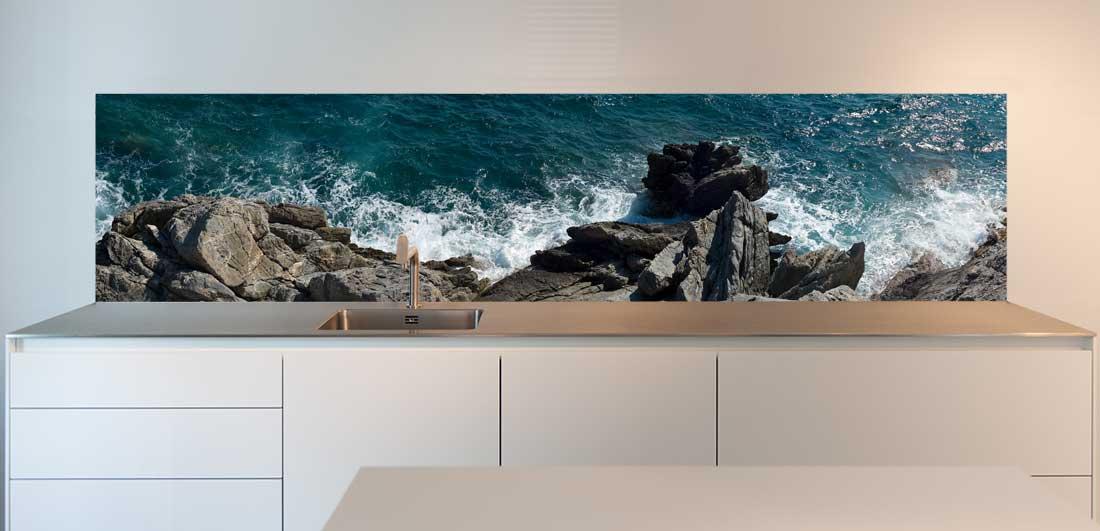 keuken achterwand zeezicht
