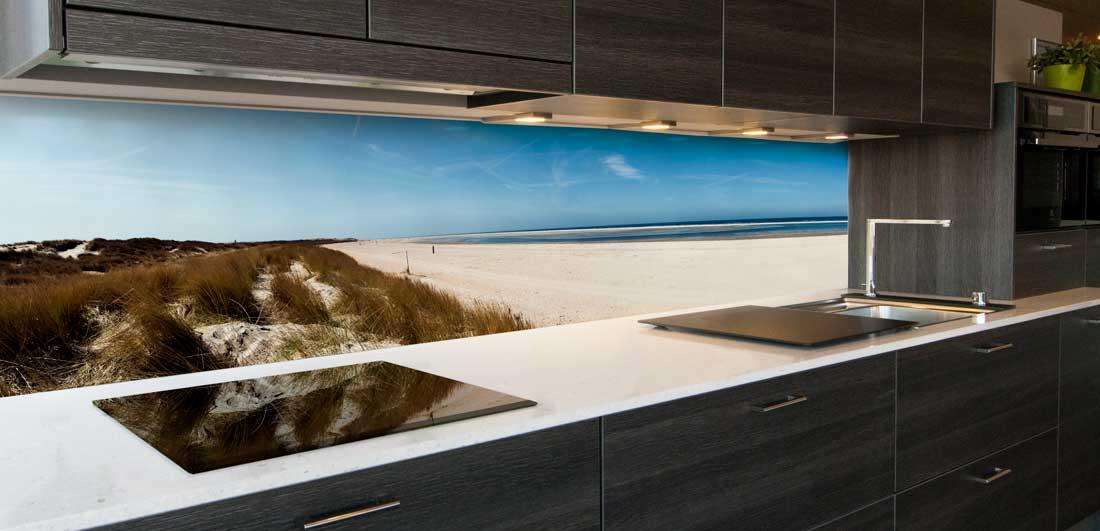 Keuken achterwand Noordzee